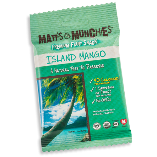 Matts Munchies Premium Fruit Snack - Island Mango ~ CASE Of 12~
