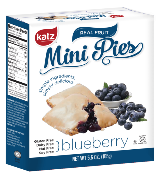 Katz Gluten Free Blueberry Mini  Pie Snaps **NEW**