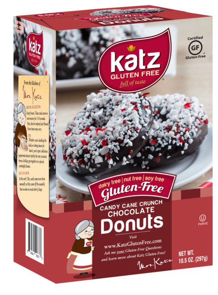 Katz Gluten Free Candy Cane Crunch Chocolate Donuts**NEW**