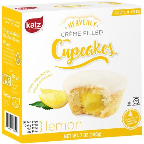 Katz Gluten Free  Heavenly Crème filled Cupcakes - Lemon