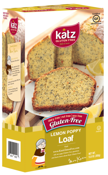 Katz Lemon Poppy Loaf - Gluten Free