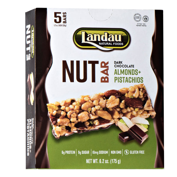 Landau Dark Chocolate Nut Bars Almond & Pistachios