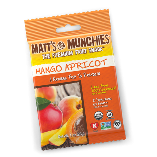 "Matts Munchies Premium Fruit Snack - Mango Apricot  CASE Of 12  ""NEW NEW FLAVOR"""
