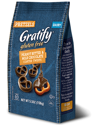 Gratify Gluten Free Peanut Butter & Milk Chocolate Coated Twists ~NEW~