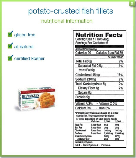 Dr. Praeger's Gluten Free Potato Crusted Fish Fillets