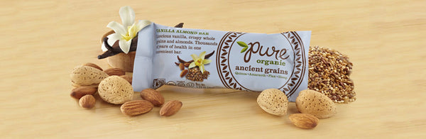 "Pure Organic ""Ancient Grains"" Vanilla Almond Bar ~ NEW FLAVOR~"