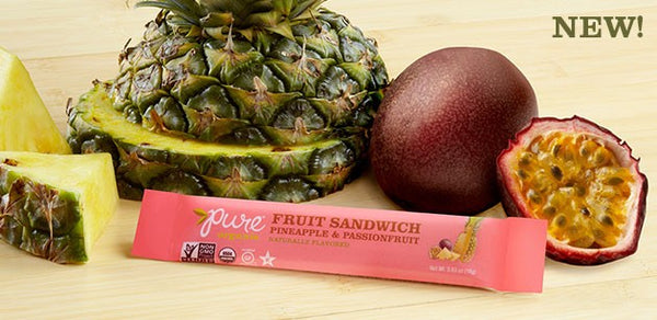 Pure Organic Fruit Sandwich - Pineapple & Passion Fruit  - 3 Pack
