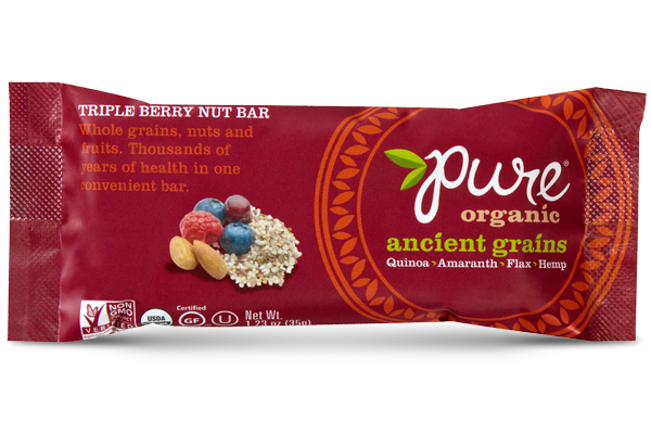 "Pure Organic ""Ancient Grains"" Triple Berry Nut Bar"