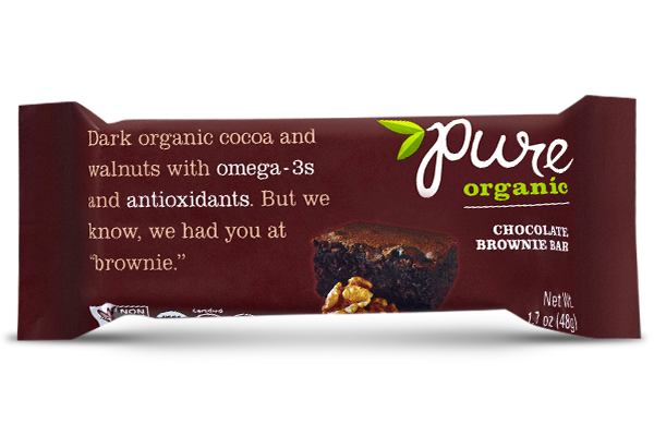 Pure Organic Chocolate Brownie Bar