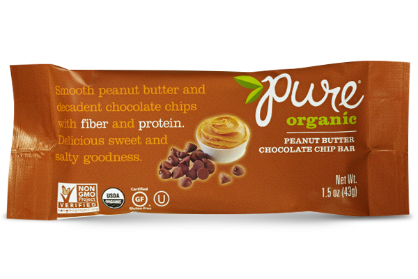 Pure Organic Peanut Butter Chocolate Bar ~ NEW FLAVOR~