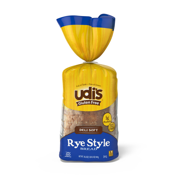 Udis Gluten Free Deli Soft Rye Style Bread **ONE OF A KIND**