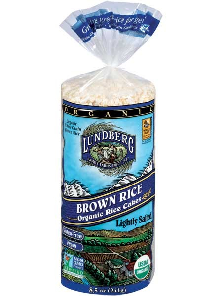 Lundberg Organic Brown Rice Cakes - Lightly Salted