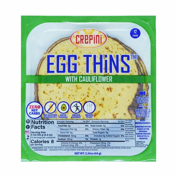 Crepini Egg Thins With Cauliflower