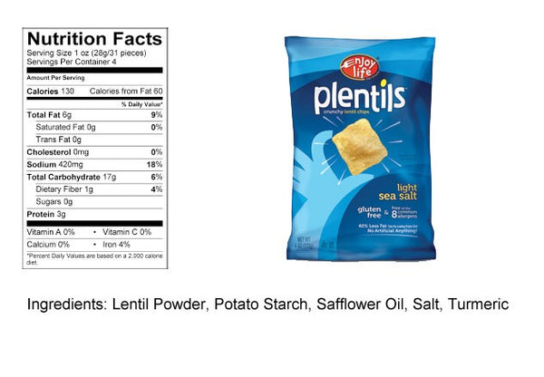 Enjoy Life Plentils Chips - Sea Salt