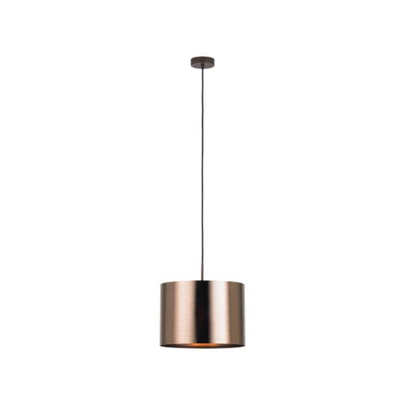 Saganto 1 Pendant Light 60w E27 in Copper Brown Eglo Lighting - 39393