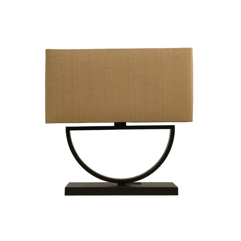 Bronze Half Circle Table Lamp with Rectangle Shade Bloomingdales - B241L