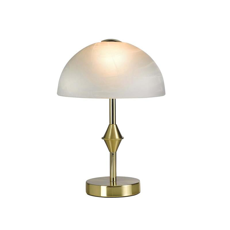 Gold Look LED Table Lamp with Frosted Glass Dome Bloomingdales - B328L