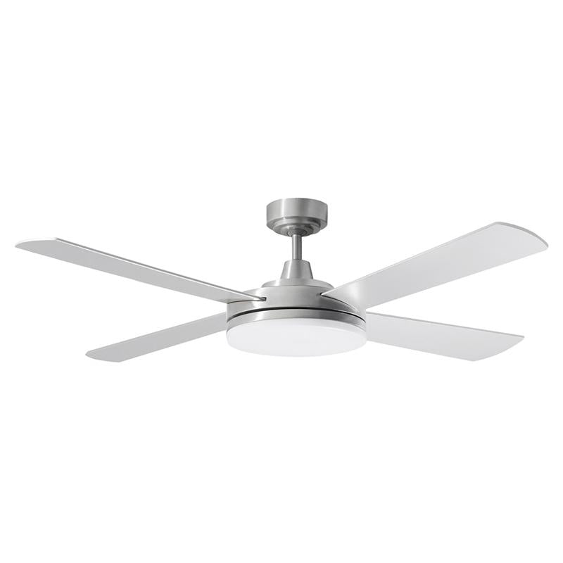 "Razor 52"" AC Ceiling Fan w 28w LED Light in Brushed Aluminium (3000k/5000k) Martec Lighting - MRF1343, MRF1345"