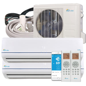 11180 - SENA-18HF-D99 - 18000 BTU Dual Zone Mini Split Air Conditioner - Heat Pump