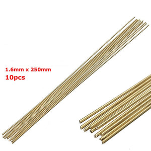 10pcs/lot Welding Solder Rods 250mmx1.6mm Gold Sifbronze Brazing Welder Rods Brass K Gold Platinum Jewelry for Welding Tools