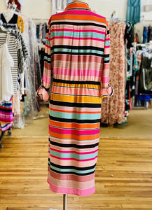 Adrianna Papell Stripe Dress NWT