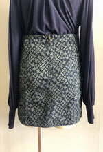 Load image into Gallery viewer, print gored denim skirt
