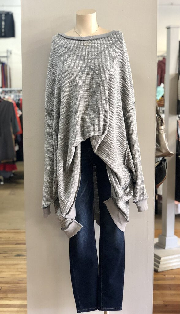 oversized inside out tunic