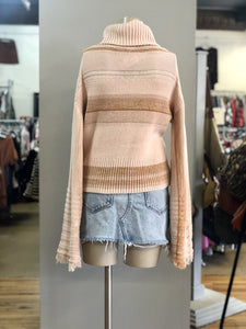 Free People Tneck Crop Sweater