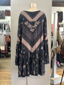 Free People Print Drop Waist Dress