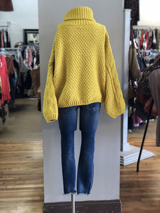 chenille cable tneck sweater NWT