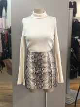 Load image into Gallery viewer, snake print faux leather skirt
