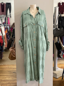 oversized shirt dress NWT