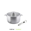 On & Off 22cm Stainless Steel Casserole with Detachable Handle - Kitchen Square