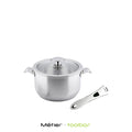 On & Off 18cm Stainless Steel Casserole with Detachable Handle - Kitchen Square
