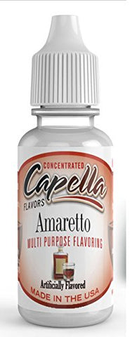 Amaretto Flavour Concentrate 13ml - Authentic CAP Flavor Drops bottled by Capella in the USA for flavouring puddings, baking and drinks
