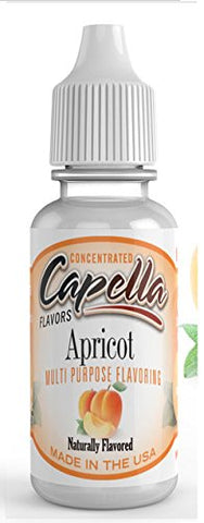 Apricot Flavour Concentrate 13ml - Authentic CAP Flavor Drops bottled by Capella in the USA for flavouring puddings, baking and drinks