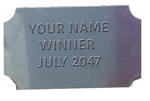 Engraving Plate EPCE- Engraved with your Engraving - 60mm x 35mm (design: silver cut corners)