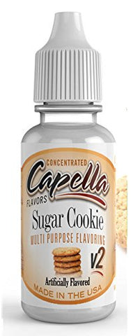 Sugar Cookie v2 Flavour Concentrate 13ml - Authentic CAP Flavor Drops bottled by Capella in the USA for flavouring puddings, baking and drinks