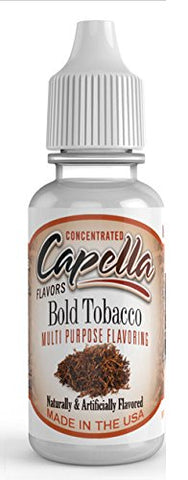 Bold Tobacco Flavour Concentrate 13ml - Authentic CAP Flavor Drops bottled by Capella in the USA for flavouring puddings, baking and drinks
