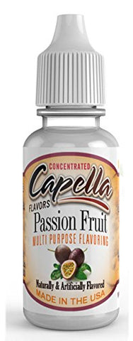 Passion Fruit Flavour Concentrate 13ml - Authentic CAP Flavor Drops bottled by Capella in the USA for flavouring puddings, baking and drinks