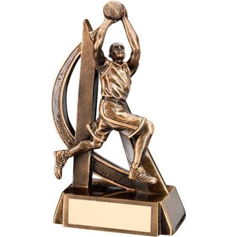 Male Basketball Trophy - Curve Design