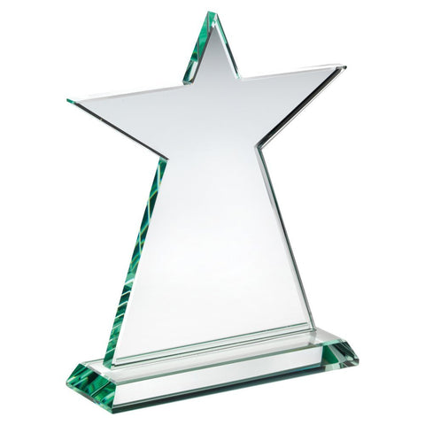 Star Glass Plaque Trophy