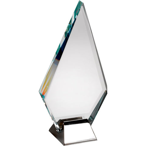 Diamond Glass Trophy (15mm thick) Sail with Metal Base in Presentation Case