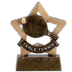 "Table Tennis / Ping Pong Trophy (3.5"") - Mini Star Trophy Range"