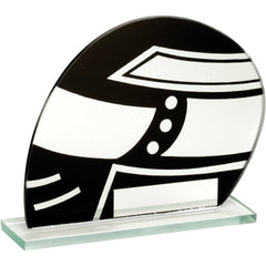 Racing Trophy - Glass Motorsport Helmet Design for Kart / Motorcycle Racing