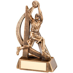 Female Basketball Trophy - Curved Design