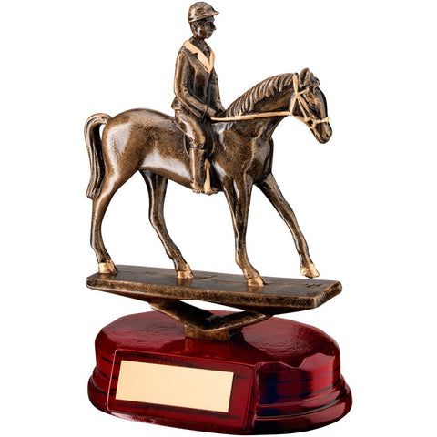 "Horse Trophy featuring Horse and Rider - for Dressage, Horse Riding, Horse Racing (6.5"")"