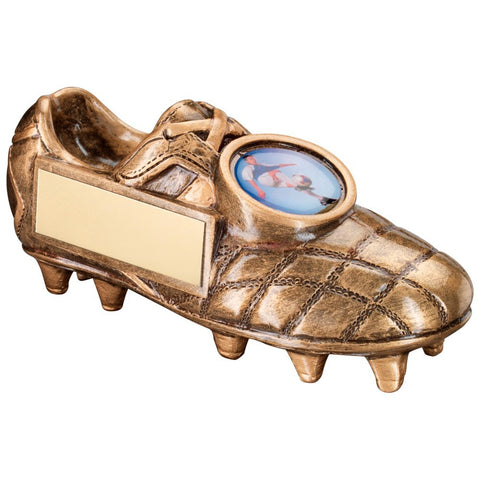 Football Boot Trophy in Bronze / Gold Colour Resin