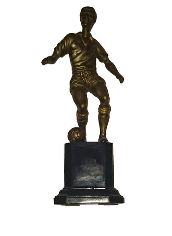"Budget Resin Football Trophy (8"") - Footballer Figure on Resin Base"