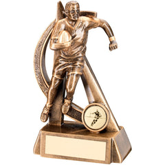 Rugby Figure Trophy - Curved Design